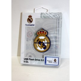 Real Madrid Escudo 8Gb en Caja Transparente