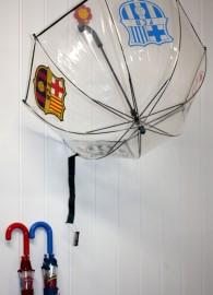 Barça Paraguas Infantil Transparente 48cm x 3
