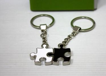 Llavero Duo Puzzle Bl/Ng