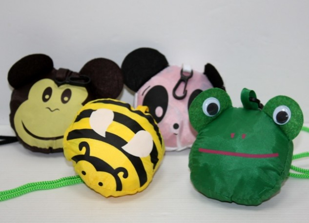 Bolsa Plegable Animales x 4