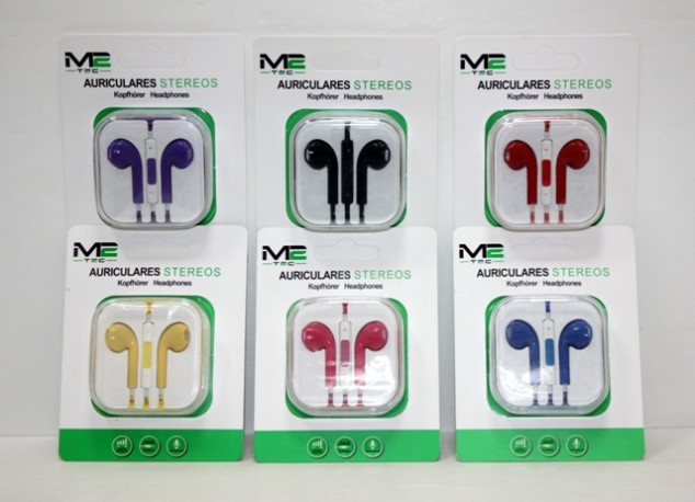 Auriculares Iphone Stereo Color con Volumen x 6