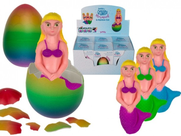 Huevo Sirena que Crece 10cm x 6