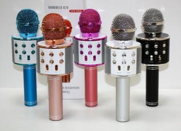 Micrófono Karaoke, Altavoz Bluetoch, 4 Voces, Graba, Radio , Selfie Usb y Tf
