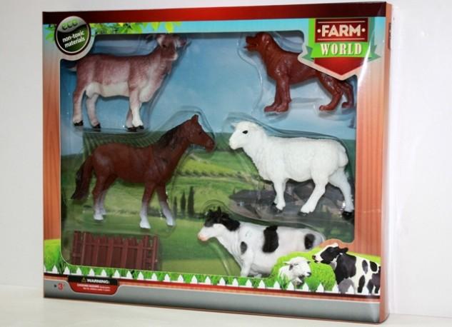 Set 5 Animales Granja y Valla