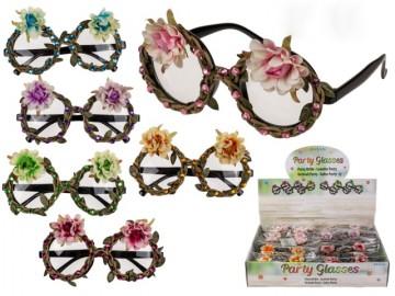 Gafas con Flores y Piedras x 24