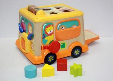 Autobus madera Actividades 25 cms