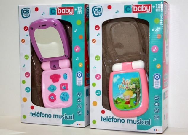 Teléfono Musical con Emoticon en Pantalla x 2