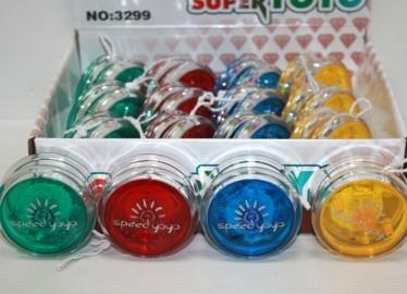 Yo-Yo Liso Colores con Luz x 12