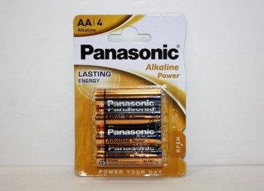 Pilas Panasonic Alkalinas Doble AA Blkister de 4 x 12