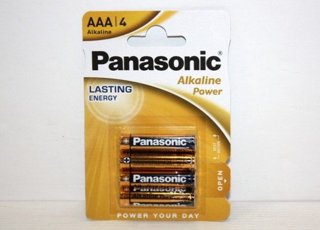 Pilas Panasonic Alkalinas Triple AAA Blister de 4 x 12