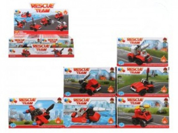 Blocs Tipo Lego Rescue Team x 12
