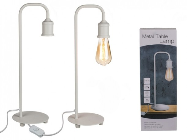 Lámpara Metal Blanco 50cm
