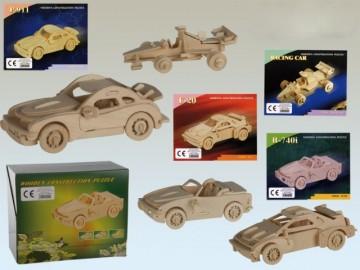 Puzzle Madera Vehículos 20 Piezas x 4