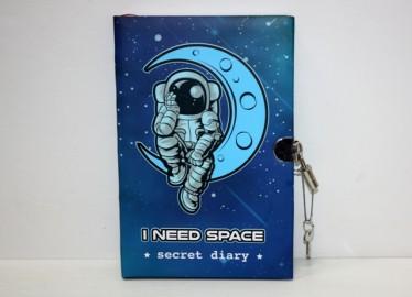Diario Secreto con Candado Astronauta Luna