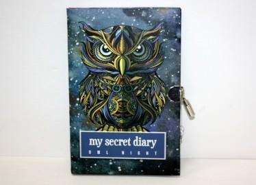 Diario Secreto con Candado Buho