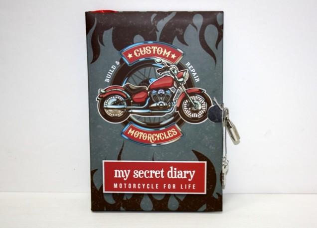 Diario Secreto con Candado Motocicleta Custom