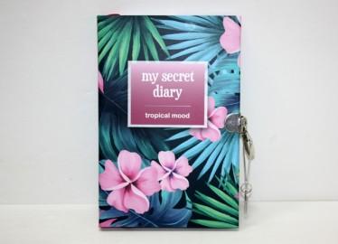 Diario Secreto con Candado Flores Tropical