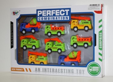 Caja 8 Camiones Obra Surtidos  8 cm