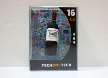USB 16 GB Botella Vino