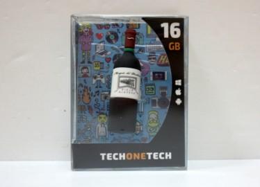 USB 16 GB Botella Vino