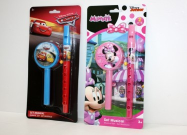 Set 2 Instrumentos Musicales Cars/Minnie x 2