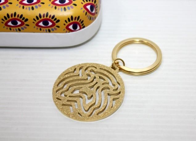Llavero Silueta Osito Oro en Caja Metal