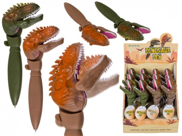 Bolígrafo Dinosaurio 2 Colores x 12
