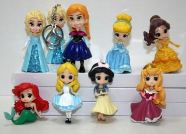 Llavero Princesas Disney Ojos Grandes x 8