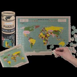 Puzzle Mapamundi Caja Redonda 300 Piezas