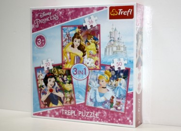 Trelf Puzzle Princesas 3 en 1