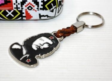 Llavero Piel Trenzada Che Guevara en Caja Metal