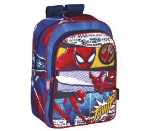 Mochila Perona Spiderman Doble 42cm