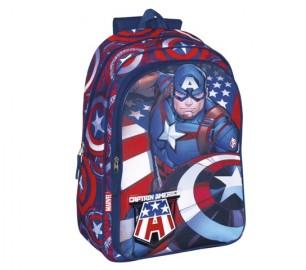 Mochila Perona Capitán America Doble 42cm