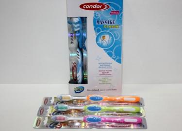 Cepillo Dental Adulto Medium 4 Colores x 12