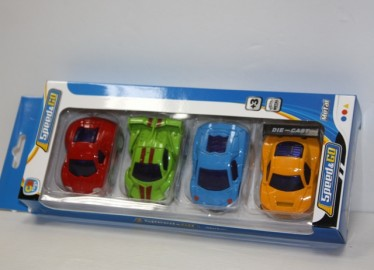 Set 4 Coches Metal