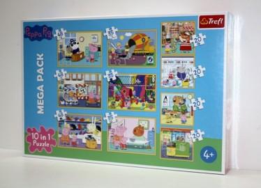 Trelf Puzzle Peppa Pig 10 en 1