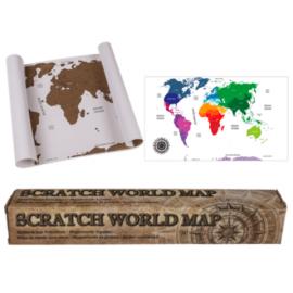 Mapa Mundo para Rascar 45cm