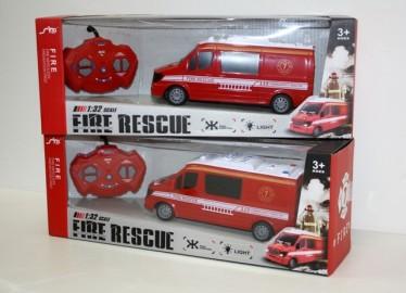 Camioneta Radio Control Roja Rescate 21cm