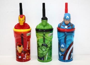Avengers Vaso Caña x 3 Surtidos