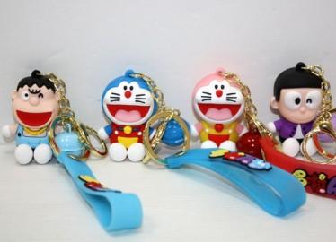 Llavero Goma Doraemon y Amigos x 12