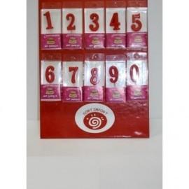 Velas Cumpleaños Numero En Caja X10