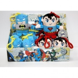 Batman Y Superman Llavero Peluche X 6