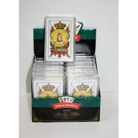 Baraja Cartas Española x 12 en caja de plástico individual