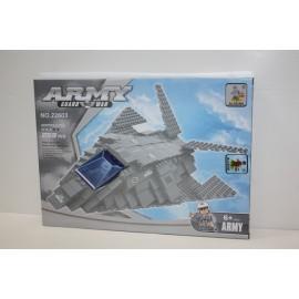 Construcción Tipo Lego Avión Army 259 Piezas