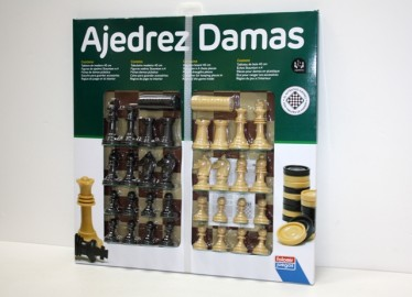 Juegos Falomir Ajedrez/Damas 40cm