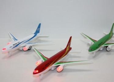 Avión Luz y Sonido Metal 18cm x 6