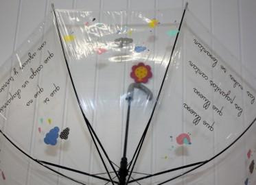 Paraguas Transparente Canción 95cm